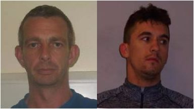 Drugs: From left, Ian Austin and Daniel Adams. M74