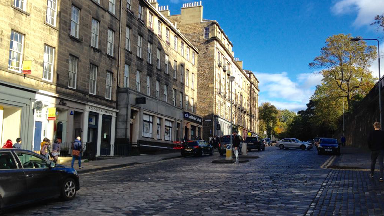 North West Circus Place in Edinburgh's New Town.