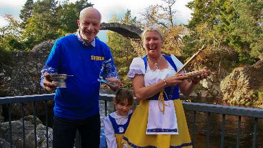 Swede feeling: Ellinor Persson awarded coveted golden spurtle.