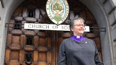 Church of Scotland new moderator Rev Susan Brown, minister of Dornoch Cathedral in the Highlands