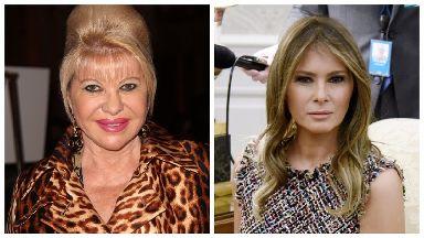 Ivana Trump (left) and Melania Trump