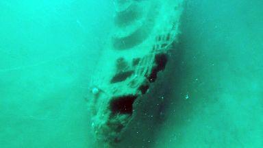 Wreck of steam pinnace of HMS Royal Oak in Scapa Flow