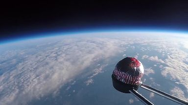 Tunnock's Teacake has been sent to the edge of space