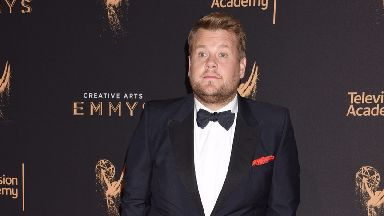 James Corden was speaking at the AmfAR charity gala.