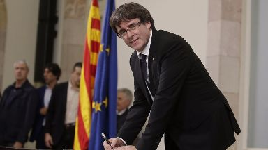 Carles Puigdemont has again failed to say whether or not he is declaring independence from Spain