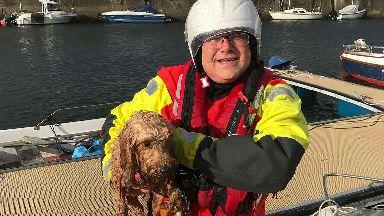 Dog rescued from drowning near Cumminston, Moray