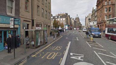 Nicolson Street, Edinburgh, where slates fell on the head of Jack Dunbar.