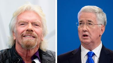 A Michael Fallon impersonator tried swindling Sir Richard Branson.