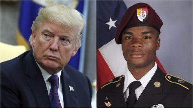 Trump and Sergeant La David Johnson
