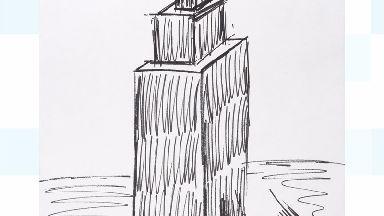 Donald Trump's sketch.