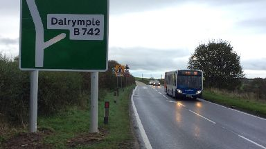 The B742 junction on the A77.