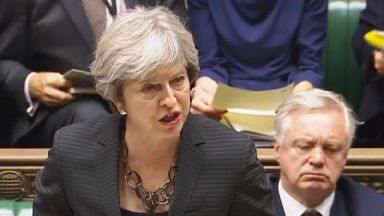 Mrs May indicated 'no deal' was still an option in Brexit negotiations