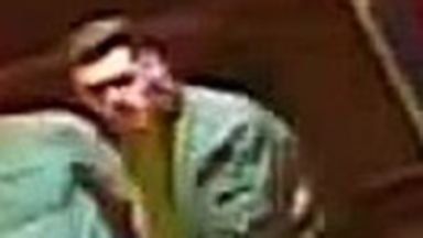 CCTV still image released on 24/10/17 after attack at Kingsfisher Restaurant on Bread Street in Edinburgh