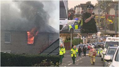 Blantyre: Huge emergency response on Morris Crescent. South Lanarkshire