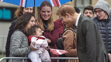 Prince Harry turned on the charm for the daughter of a Syrian refugee.