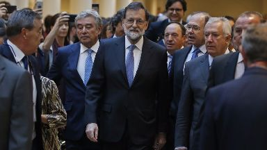 Spain's prime minister Marino Rajoy at the Senate.