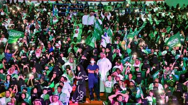 Women were allowed in the Riyadh stadium last month for the first time.