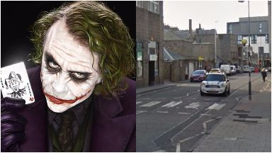 Collage, joker and Langstane Place