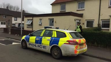 Scene of petrol-bomb attack in Fife