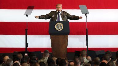 Donald Trump spoke at Yokota Air Base.