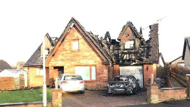 Blaze at Northfield Park in Annan, Dumfries and Galloway. November 6, 2017