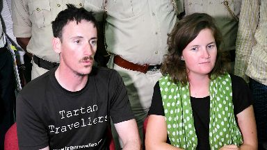 Matthew Kidd and Jessica Gray who escaped gang in India