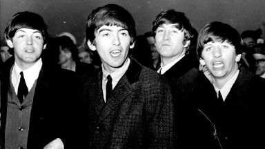 Screams from the throats of some of the 4,000 teenage fans greeted the Beatles