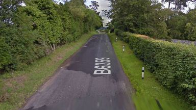 Elderly man found dead next to overturned mobility scooter near Hawick in the Borders.