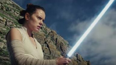 Daisy Ridley in the latest Star Wars trailer.