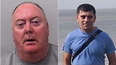 Jeffrey Barry (left), murdered Kamil Ahmad.