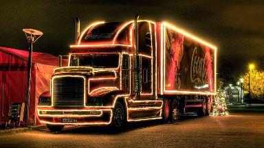 Coca-Cola Christmas truck stock/generic
