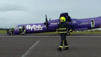 Flybe: Runway was closed and fire service called. Inverness Belfast