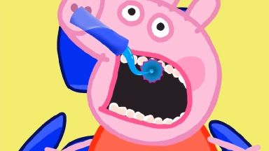 Peppa Pig at the dentist