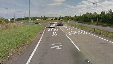 Crash near Dunbar roundabout on A1.
