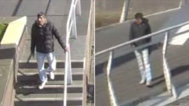Man wanted after attack on Glasgow's Squiggly Bridge