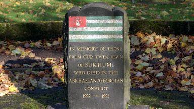 Abkhaz-Georgia war memorial in Kilmarnock, East Ayrshire