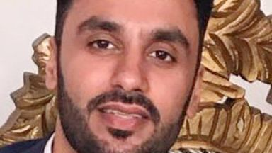 Court: Escorted by armed police. Jagtar Singh Johal