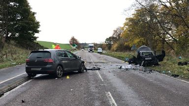 A96: Two-year-old boy also seriously injured. Elgin Moray Lhanbryde