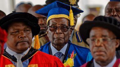 President Robert Mugabe attended a graduation ceremony.