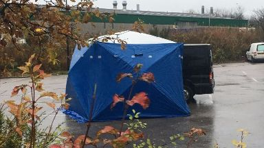Travelodge: Tent was erected in car park. Bucksburn Aberdeen