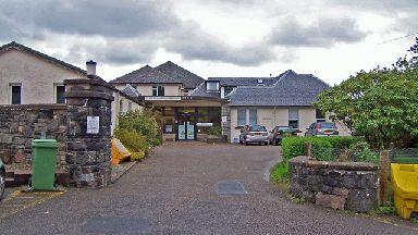 Dr MacKinnnon Memorial Hospital in Broadford, Skye, from Wikimedia Creative Commons