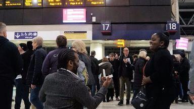 Lisle Hunte proposed at Waterloo station.