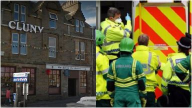 Buckie: Pub was cordoned off by police. Pub in the Square