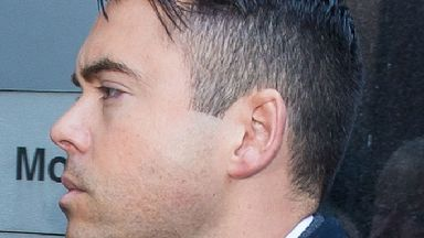 Coronation Street actor Bruno Langley arrives at Manchester Magistrates' Court.