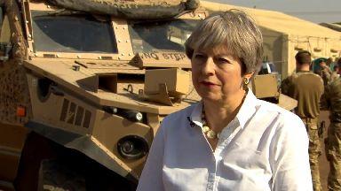 Theresa May in Iraq