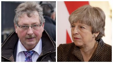 Sammy Wilson and Theresa May