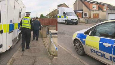 Elgin: Lane was cordoned off by police.