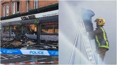 Kebabish: Restaurant gutted by fire. Glasgow Govanhill