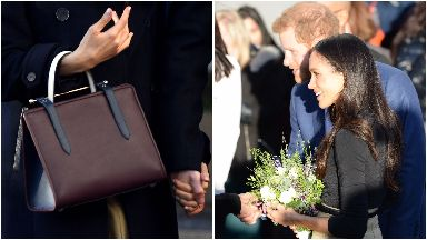 Meghan Markle, Prince Harry and Meghan's handbag