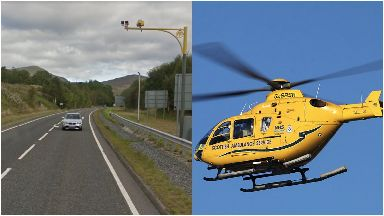 A9: She was airlifted to hospital. Blair Atholl